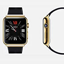 Lincass Bluetooth Smart Watch Phone Dual-Core CPU Aluminum Body Built-in GPS Antenna Smartwatch Support GPS WIFI BT WCDMA 3G Smart Watch Support Sync Support Andriod Apps Download And Install (Gold)