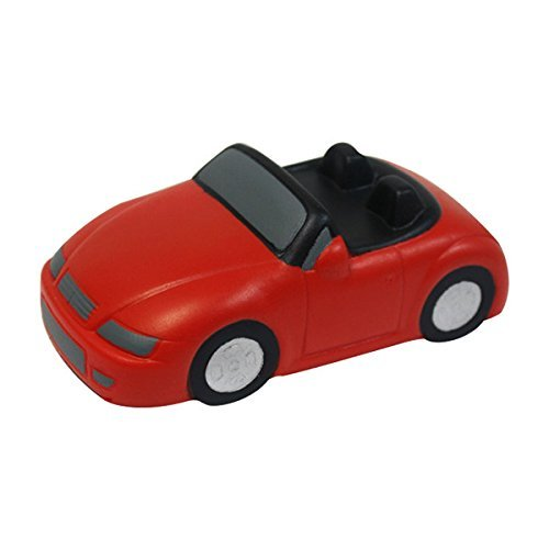 (Convertible Race Car Stress Reliever Toy Vehicle - Red - Promotional Product - Your Logo Imprinted (Case Pack 250))