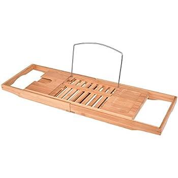Amazon.com: Giantex Bamboo Bathtub Caddy with Extending Sides ...