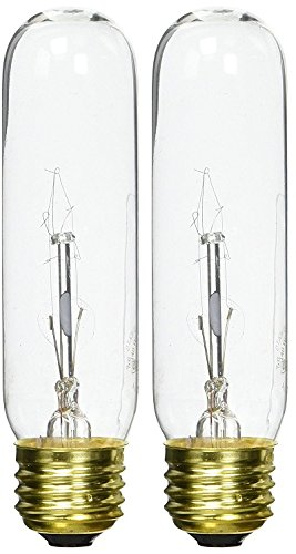 Bulbrite B40T10C 40-Watt Incandescent 120V T10 Tubular Bulb, Clear - 2 Pack (2 Piece T10 Bulbs)
