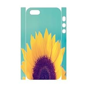 sunflower Design Unique Customized 3D Hard Case Cover for iPhone 5,5S, sunflower iPhone 5,5S 3D Cover Case