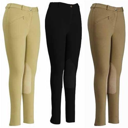 - TuffRider Ladies Cotton Knee Patch Regular Breeches