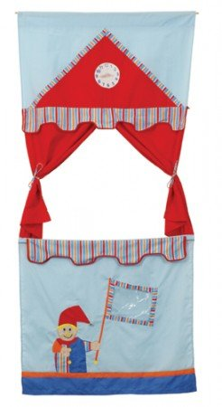 tür kasperletheater aus stoff blau-rot roba: amazon.de: küche ... - Roba Küche