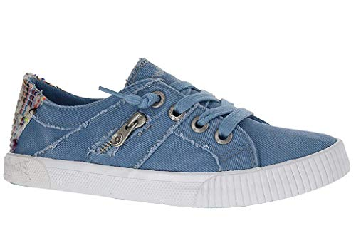 Blowfish Malibu Womens Fruit Sneakers, Baby Blue Hipster Smoke Canvas, 10