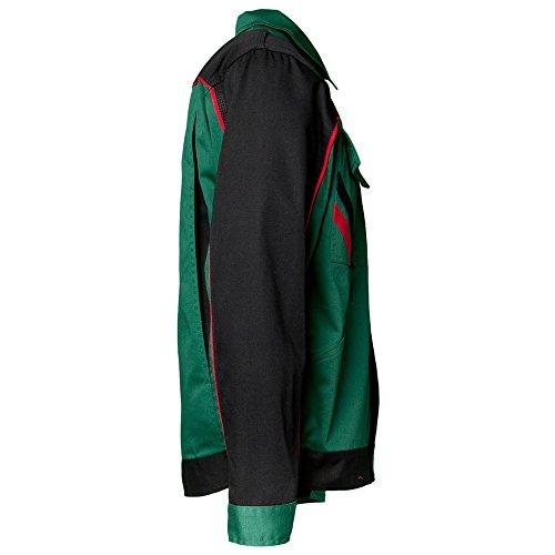 Planam 2315118 Highline Blouson de travail Taille 118 en Vert/Noir/Rouge