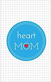 heart MOM: Graph Paper Book with hearts on back cover, 5 in x 8 in, 50 sheets / 100 pages