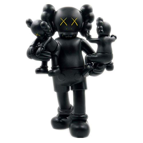 Margoth 16 inch KAWS with Kids Dissected Companion Original Fake Art Toys Action Figure Figurine Plush Doll Toy Model Statue Accessories Collection Morden Gift with Retail Box (Black)