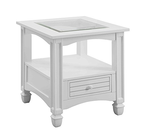 Price comparison product image Treasure Trove Accents 17625 Bayside End Table, White