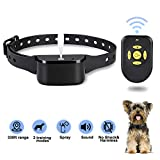 Zeonetak Dog Training Spray Bark Collar with Remote,2 Modes Citronella Control Stop Barking Collar for Dogs Small Medium Large, Adjustable Rechargeable Waterproof No Shock Harmless&Humane, 330ft Range