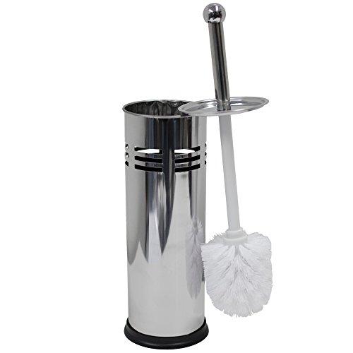 Oasis Collection Toilet Brush & Holder Set, Stainless Steel Line Punch TB029922 (Brush Toilet Collection)