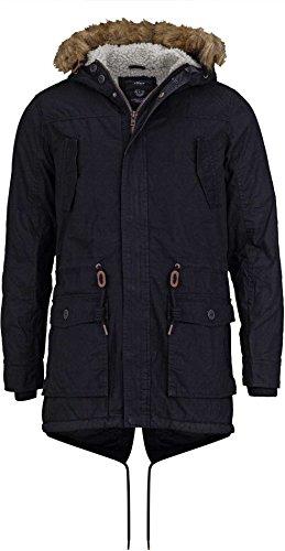 Jacket Platt Solid Parka Negro Parka Solid 7xCS4tqw