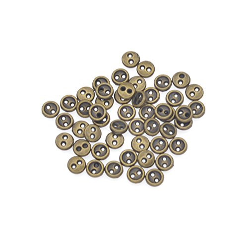 Mini Doll Buttons Alloy Revits Plastic 2 Holes DIY Sewing Buttons 3mm 4mm 5mm ()