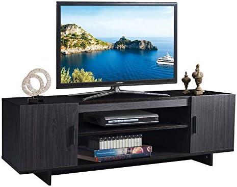 Tangkula Modern Wood Universal TV Stand