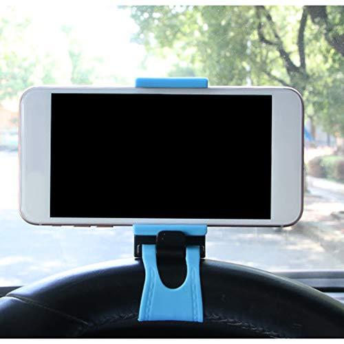 5-8.5cm Clip del tel/éfono del Coche Adecuado para el iPhone Samsung Xiaomi Huawei Meizu GPS JUNGEN Soporte del tel/éfono m/óvil del Volante Soporte de navegaci/ón del Volante del Coche