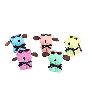 klinkamz - 5 Toallas de algodón para Tartas con Forma de Perro para el día de la Madre, Boda, Regalo de cumpleaños: Amazon.es: Hogar
