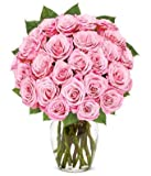 Flowers - Exclusive Pink Rose Arrangement - 24 Stems