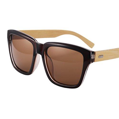 Gafas Polarizadas Sol Conduce De Mientras Sol De Obstruyendo Las De WANGXIAOLIN La Vendimia Las De Pierna La Los De Completo Hombres Que Marco De Gafas Bambú wqB41H