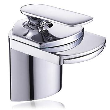 amzdeal rubinetto cascata cromata da bagno rubinetto moderna rubinetti bagno cascata rubinetto lavabo bagno con