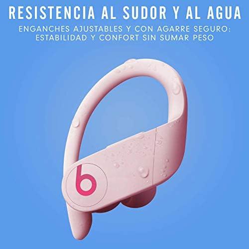 Powerbeats Pro - Auriculares intraurales inalámbricos - Chip Apple H1, Bluetooth de Clase 1, 9 horas de sonido ininterrumpido, resistentes al sudor - Rosa Cielo: Amazon.es