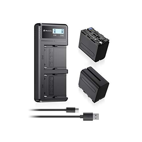 2 Baterias Np-f970 Y Cargador Rapido Para Sony (ver Modelos)