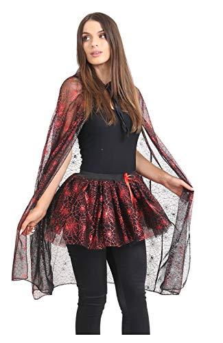 MA ONLINE Ladies Halloween Spider Web Costume Womens