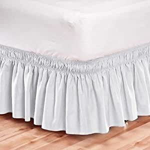 king size bed skirt elastic bed skirt dust ruffle easy fit 29403