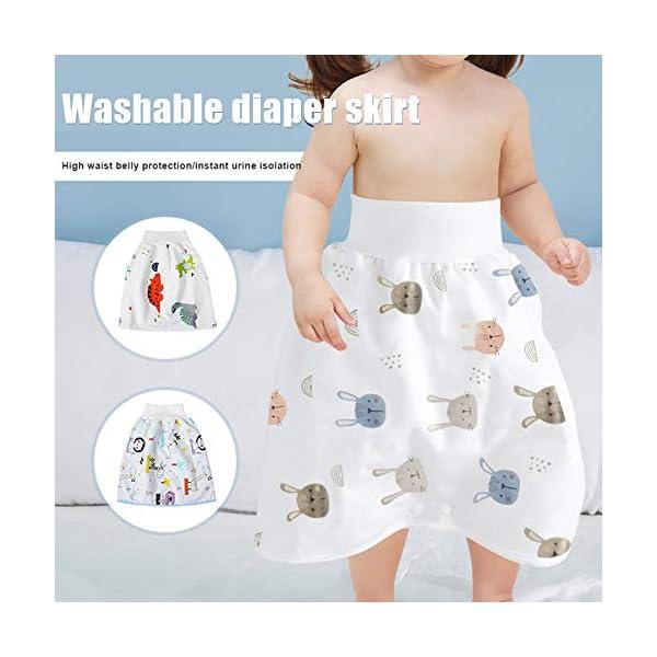 Teekit Comfy Childrens Diaper Skirt - Pantaloncini impermeabili e assorbenti per bambini 2