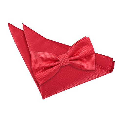 Hanky Pre Wedding Bow Solid DQT Men's Plain Tie Red Check tied HCpnzx