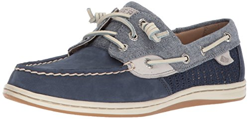 Sperry Top-Sider Women's Songfish Chambray Boat Shoe Blue