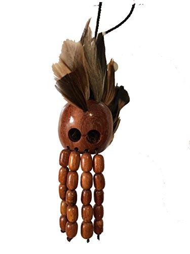 Hawaiian Warrior Helmet (Small Hawaiian Ikaika Koa Wood Warrior Helmet)
