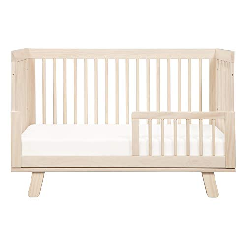 41Ne4%2BDBRVL - Babyletto Hudson 3-in-1 Convertible Crib With Toddler Bed Conversion Kit In Washed Natural, Greenguard Gold Certified