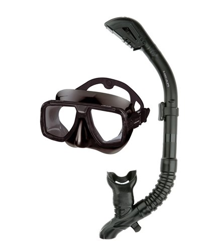 HEAD by Mares Tarpon Mask and Barracuda Dry Snorkel Combo (Black)