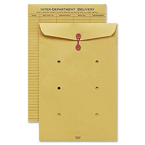 Sparco 01375 Inter-Department Envelope, String Closure, 10-Inch x13-Inch, Kraft
