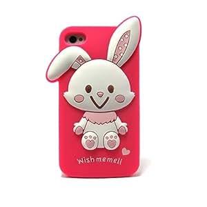 Mimomimovil - Funda silicona conejito iphone 4 para iphone 4g/4s