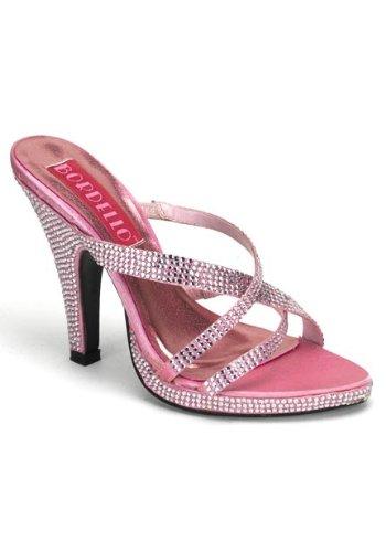 [Bordello By Pleaser Women's Siren-02R Platform Sandal,Baby Pink w/ Rhinestones,7 M US] (Infant Racing Halloween Costume)
