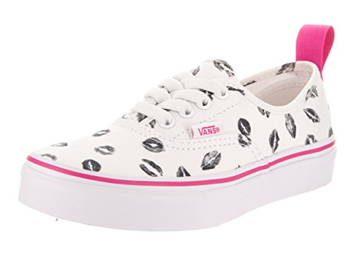 Vans Kids Authentic Elastic (Valentines) True White/BP Skate Shoe 11.5 Kids US