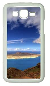 Beautiful Island Polycarbonate Hard Case Cover for Samsung Grand 2/7106 White