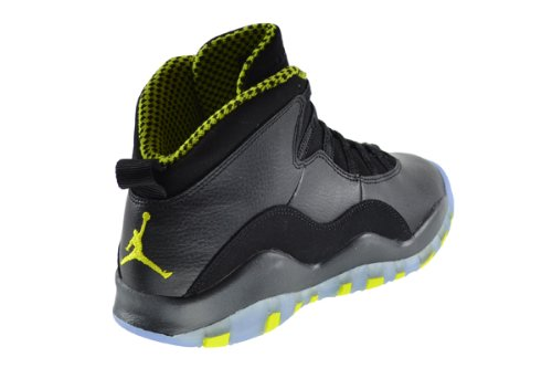 Nike Air Jordan 10 Retro Bg, Zapatillas de Deporte para Niños black, vnm green-cl gry-anthrct