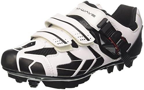 M-Wave Zapatillas MTB Blanco/Negro Con 2 Velcros + Microshift, Talla 39