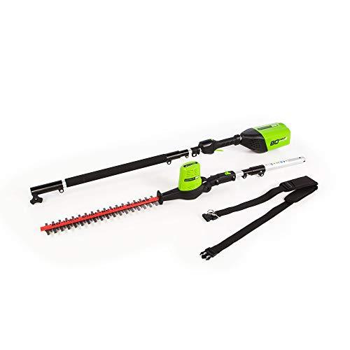 Greenworks 20-Inch 80V Cordless Pole Hedge Trimmer