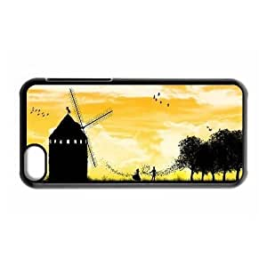 Customized Basically, my dear! In 2015 Cell Phone Case for Iphone 5C with Meet Me by the Windmill _4184717