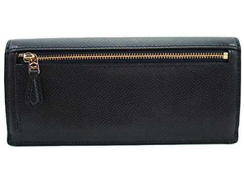 Coach CrossGrain Leather Soft Flat Wallet Midnight F54008