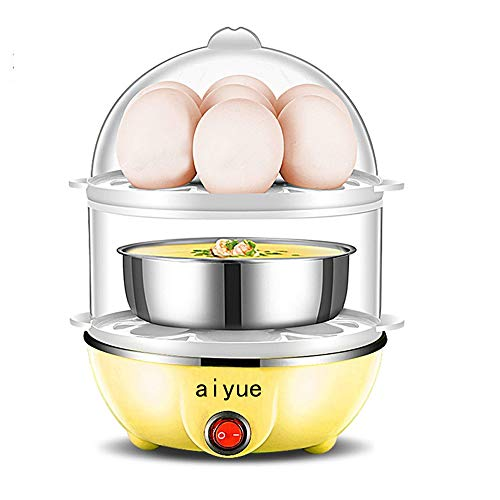 Egg Cooker 14 Egg Capacity Electric Egg Cooker for Hard Boiled Egg Cooker/Maker,Electric Steam Sterilizer,Auto Shut Off Feature (yellow)