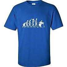 YXL 18-20 Royal Youth Evolution Of Drummer Evolution Of Man T-Shirt