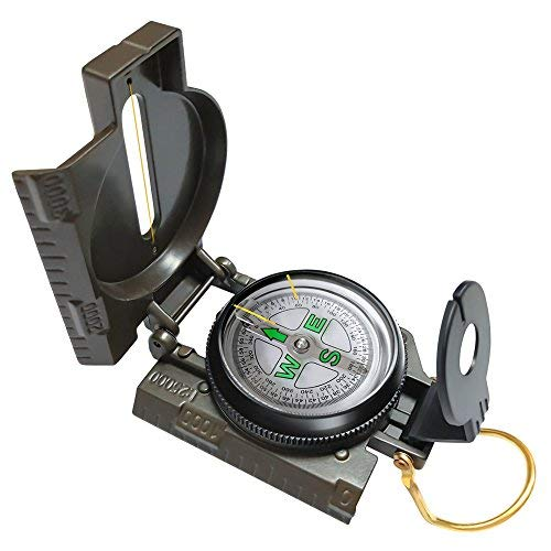 Eaggle Multifunctional Military Compass, Amy Green, Waterproof and Shakeproof, Compass for Outdoor, Camping, Hiking, Military Usage, Gifts