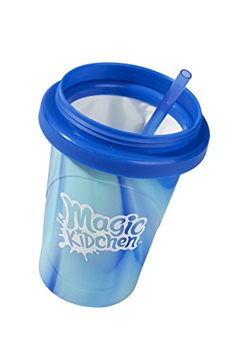 Little Kids Magic Kidchen Create Your Own Slushy Maker Kid Friendly Cooking Activity and uses Real Food Ingredients Toy, Blue