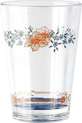 Corelle Coordinates Apricot Grove Acrylic Juice Glasses, 8-Ounce, Set of 6