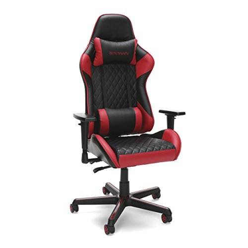 RESPAWN-100 Racing Style Gaming Chair – Reclining Ergonomic Leather Chair, Office or Gaming Chair RSP-100-RED