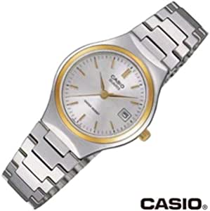 كاسيو ساعة رسمية للنساء انالوج بعقارب ستانلس ستيل - LTP-1170G-7ADF