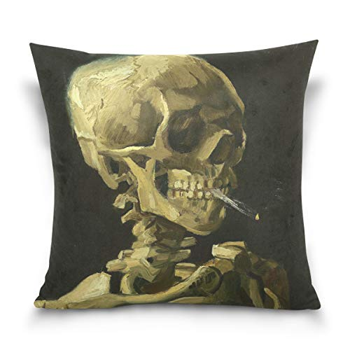 SUABO Halloween Decor Pillow Covers Cotton Pillowcases 16 x 16 inch for Sofa]()